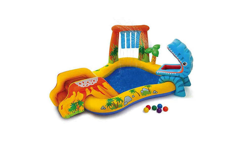 inflatable dinosaur swimming pool and water play