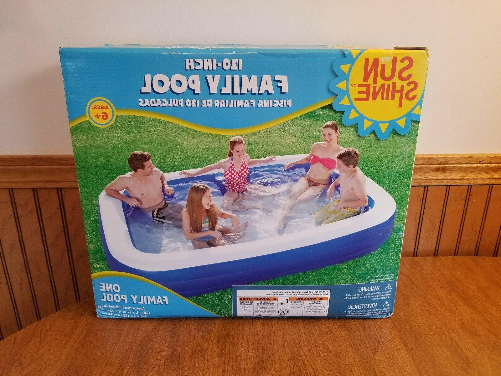 inflatable family swimming pool 10 deluxe kid