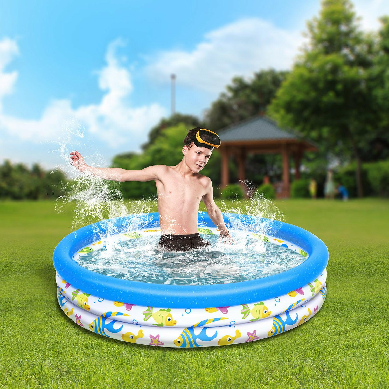 Inflatable Ocean Fish Instant Water Play Swimming Pool Center for