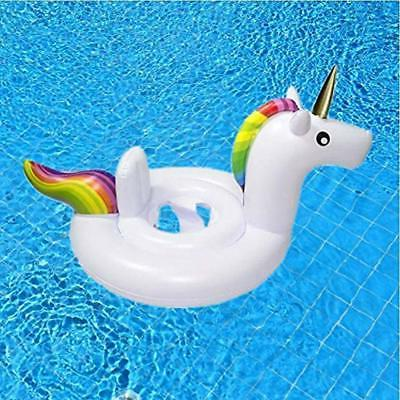 Inflatable Float Swimming Pool Unicorn Ring White