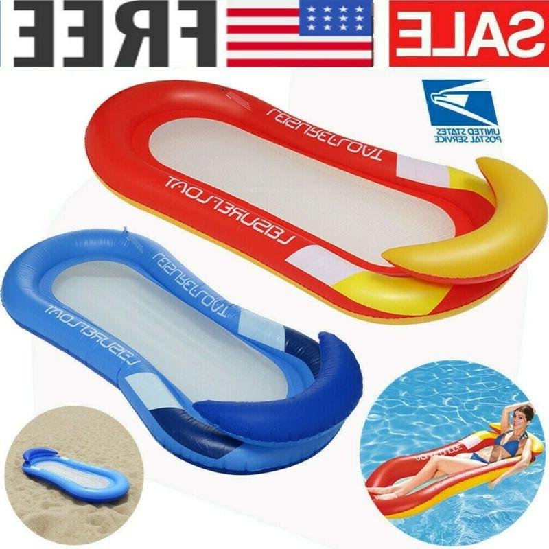 inflatable floating water hammock float pool lounge