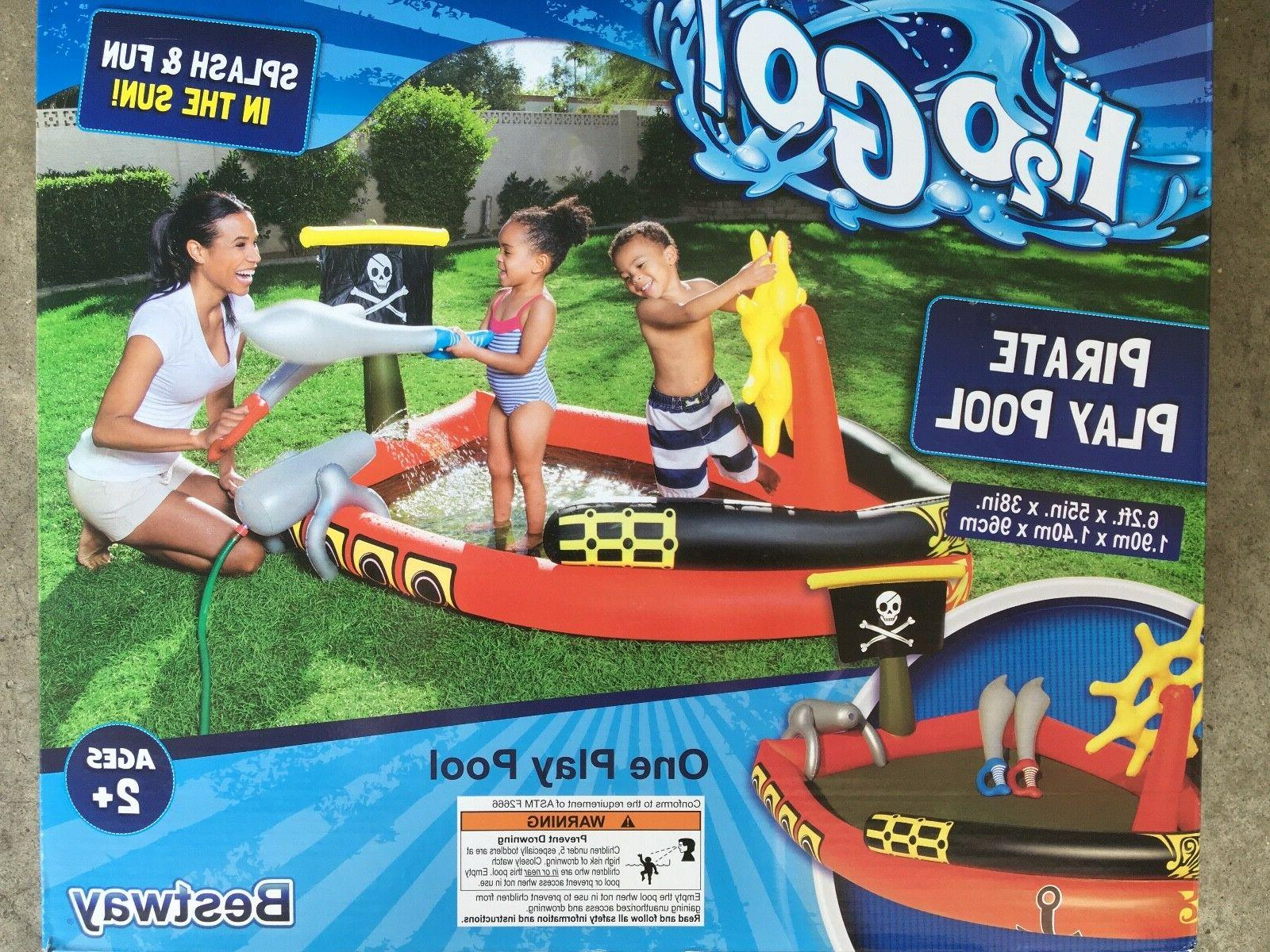 inflatable h2ogo pirate play pool with pirate
