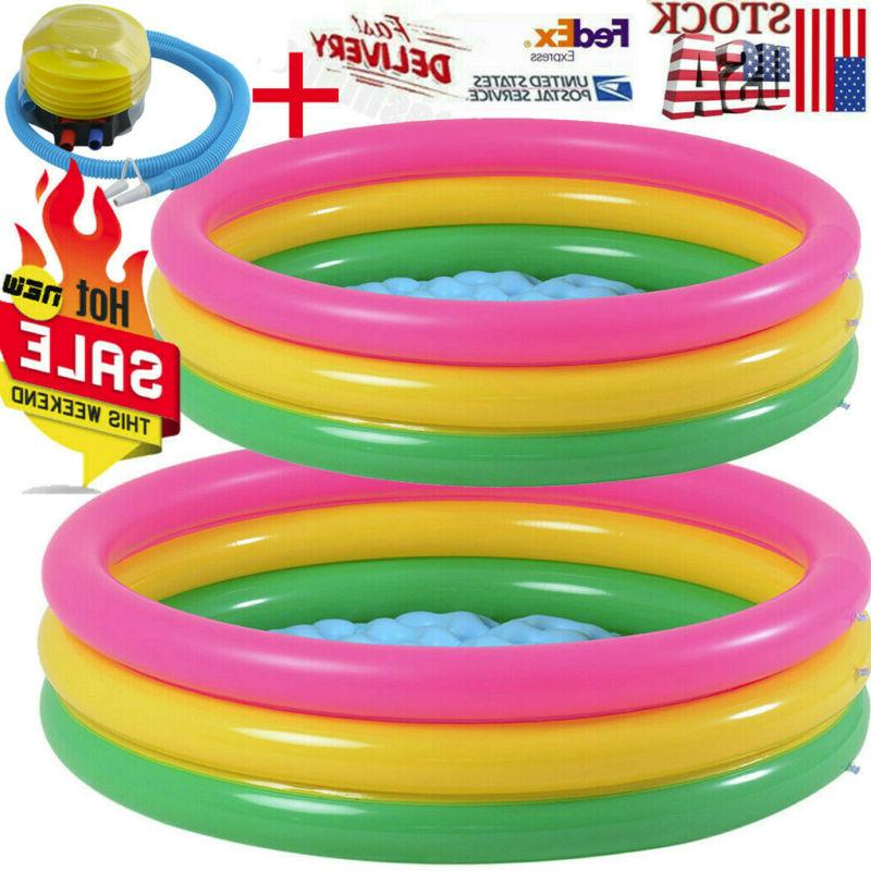inflatable kiddie pool ball pool foot pump