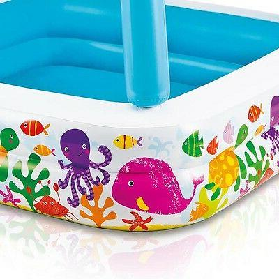 Intex 48in Inflatable Scene Sun Shade Kids Swimming Pool With