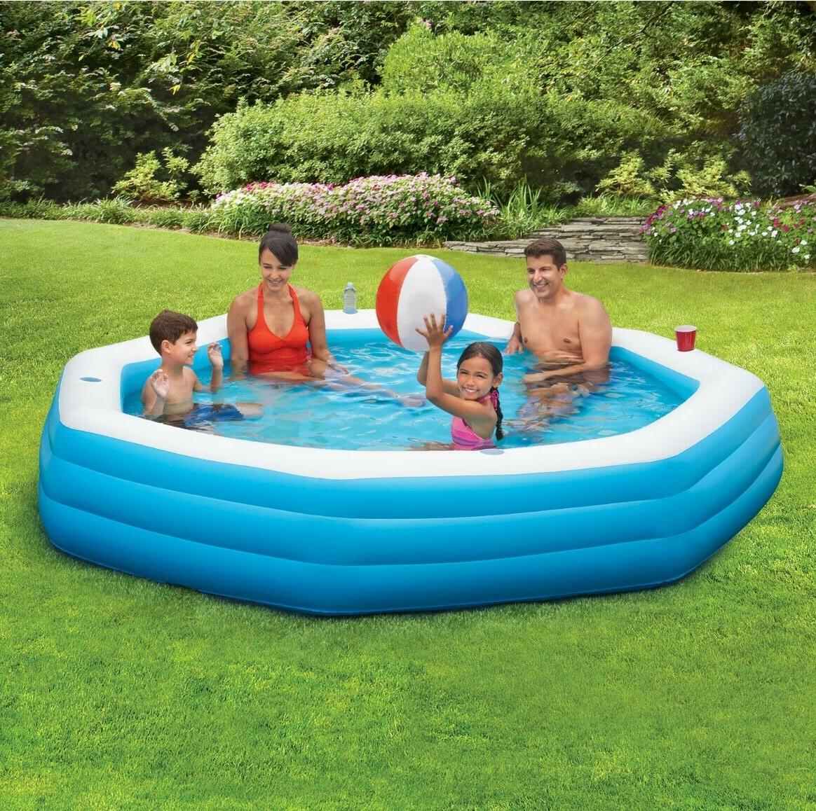 inflatable octagon family swimming pool 9 ft