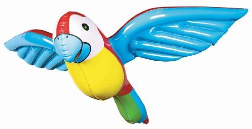 inflatable parrot