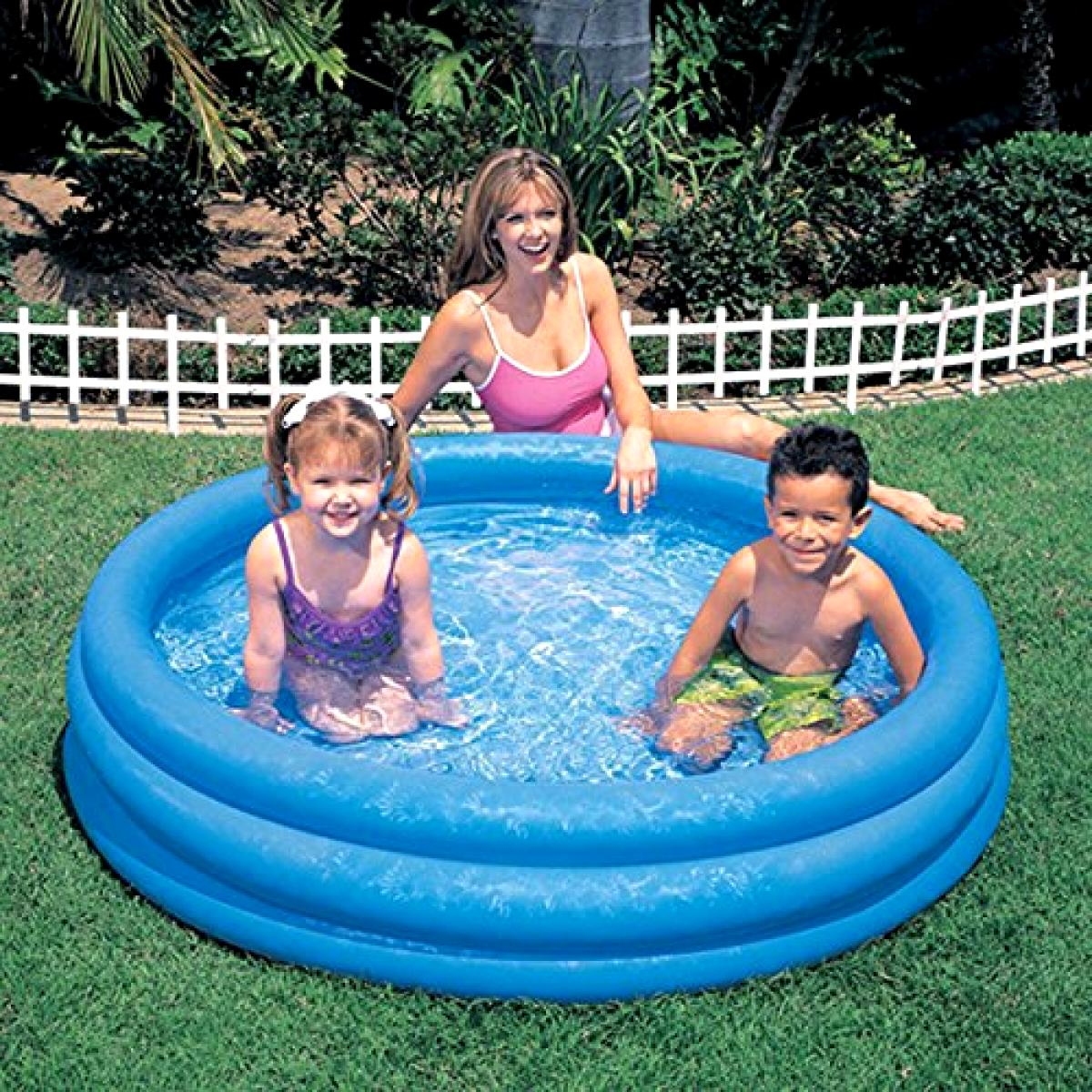 "Intex Inflatable x 10"" Pools Outdoor Play Blue"