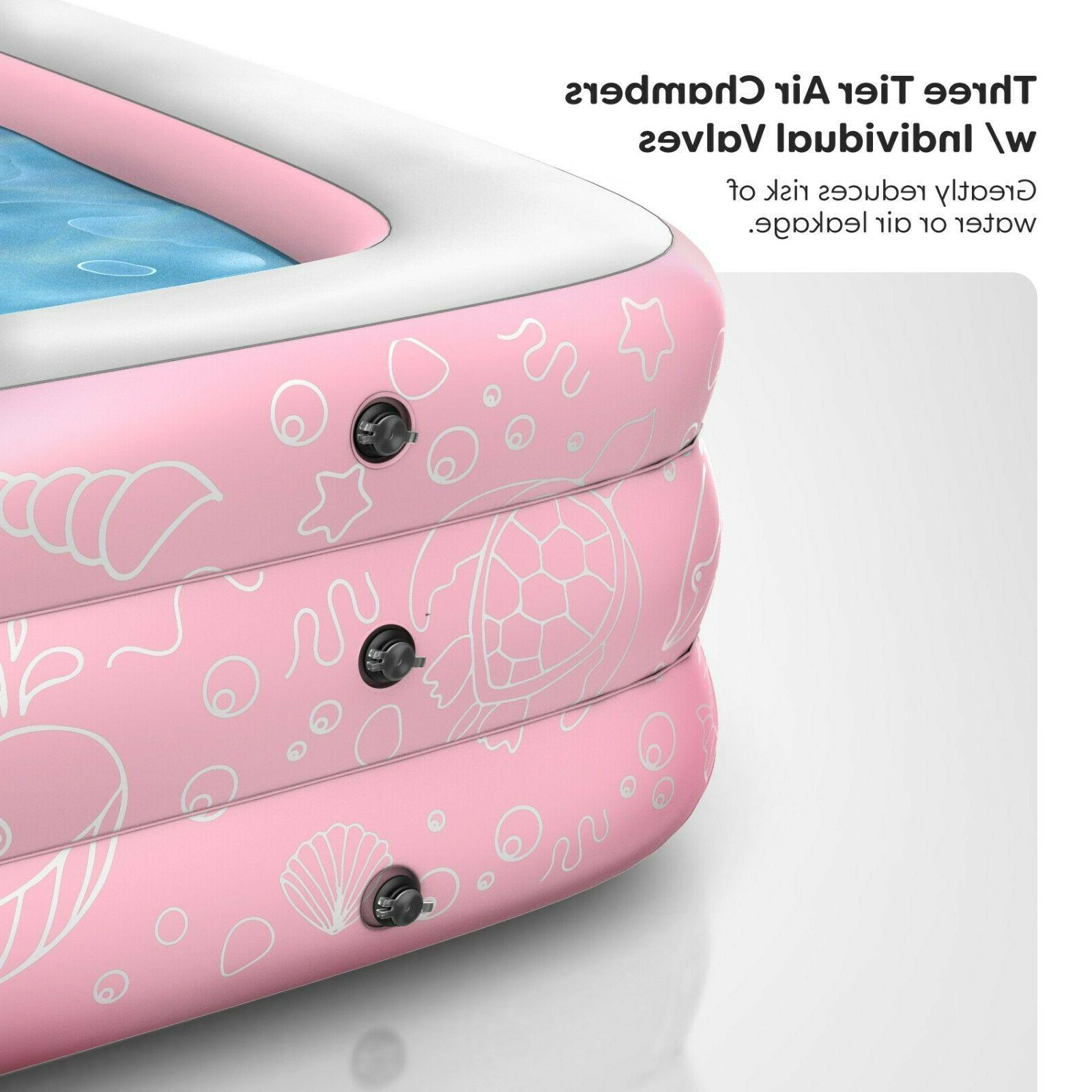 """Inflatable Above Ground Swimming 22"""" Pink"""