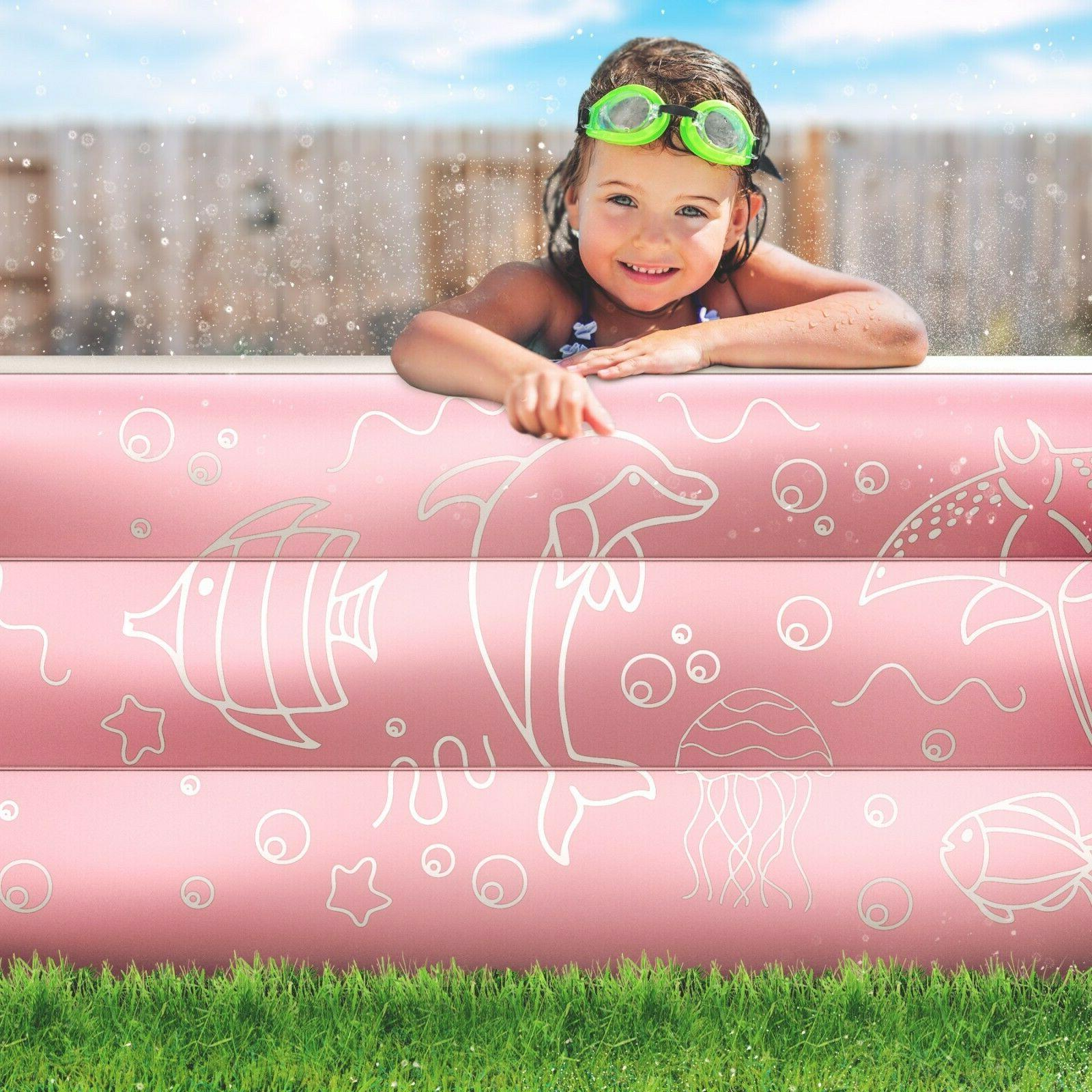 """Inflatable Pool Ground Swimming 22"""" Deep"""