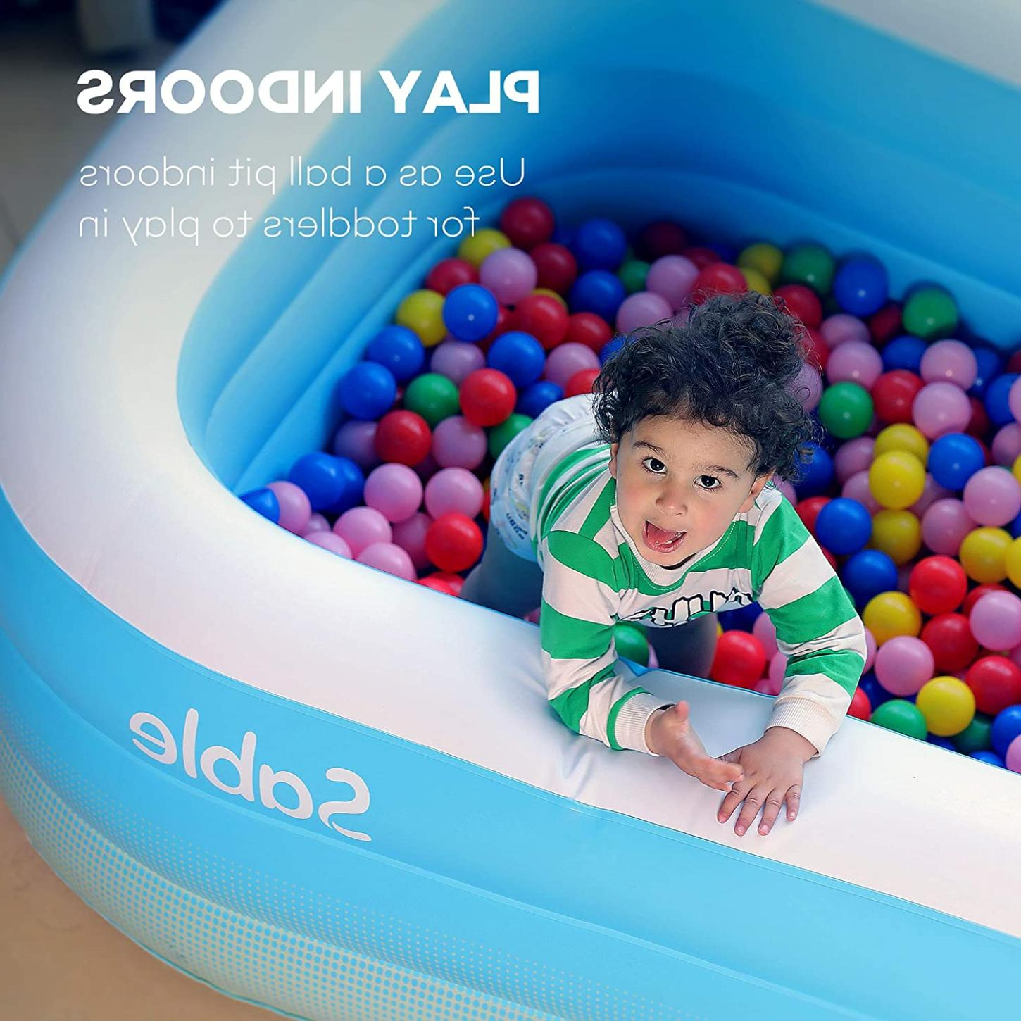 Sable Inflatable Pool Blow Up Family Full-Sized Pool Swim Water