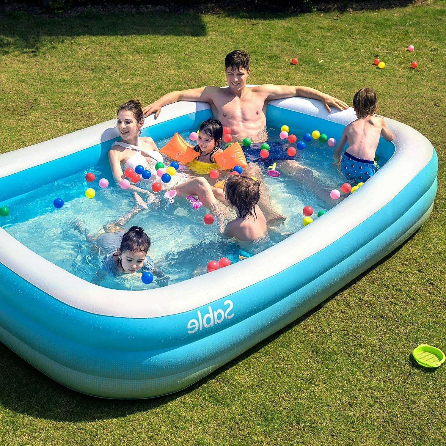 Inflatable Blow Up Family Full-Sized Pool Kids,Toddlers,