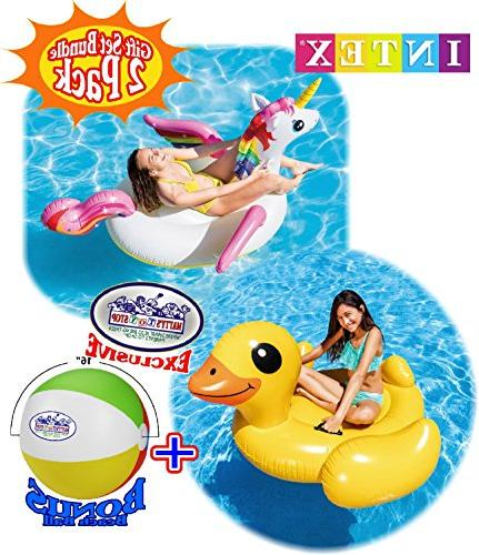 Matty's Toy Stop Pool Floats Duck Ride-On Pool Floats Gift Bundle Bonus - 2