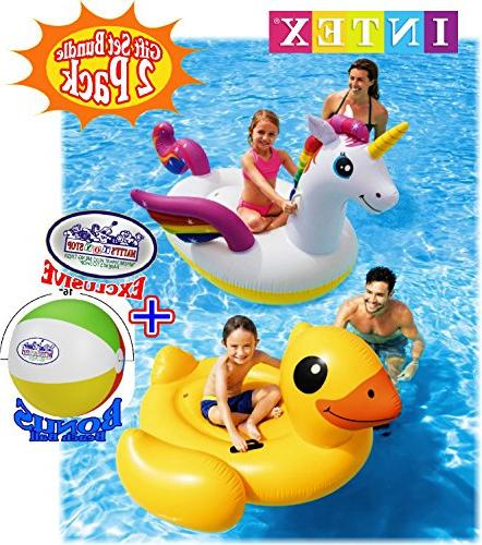 Matty's Toy Stop Inflatable Pool Floats Gift Bundle Bonus - Pack