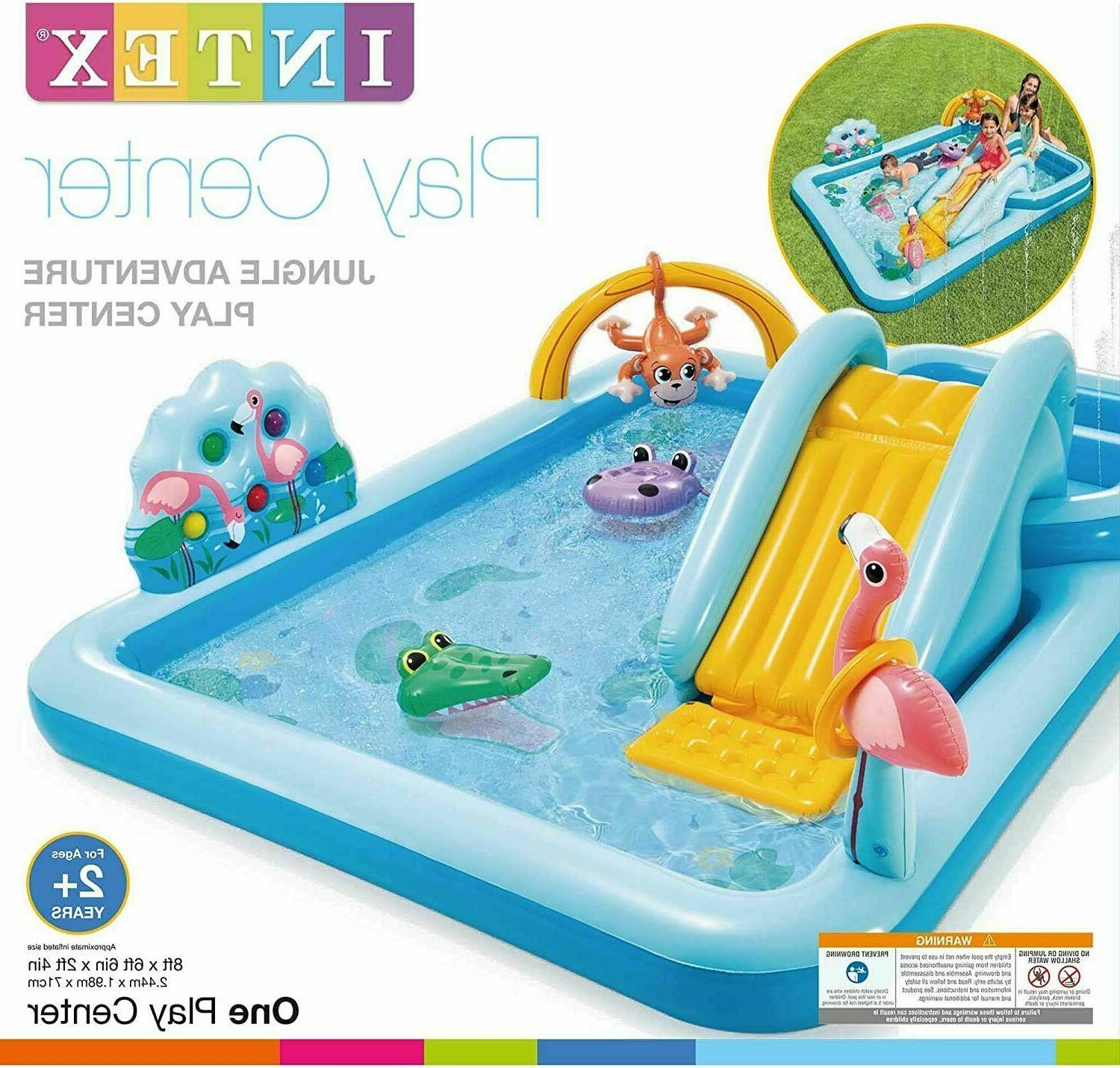 inflatable pool jungle adventure play center same