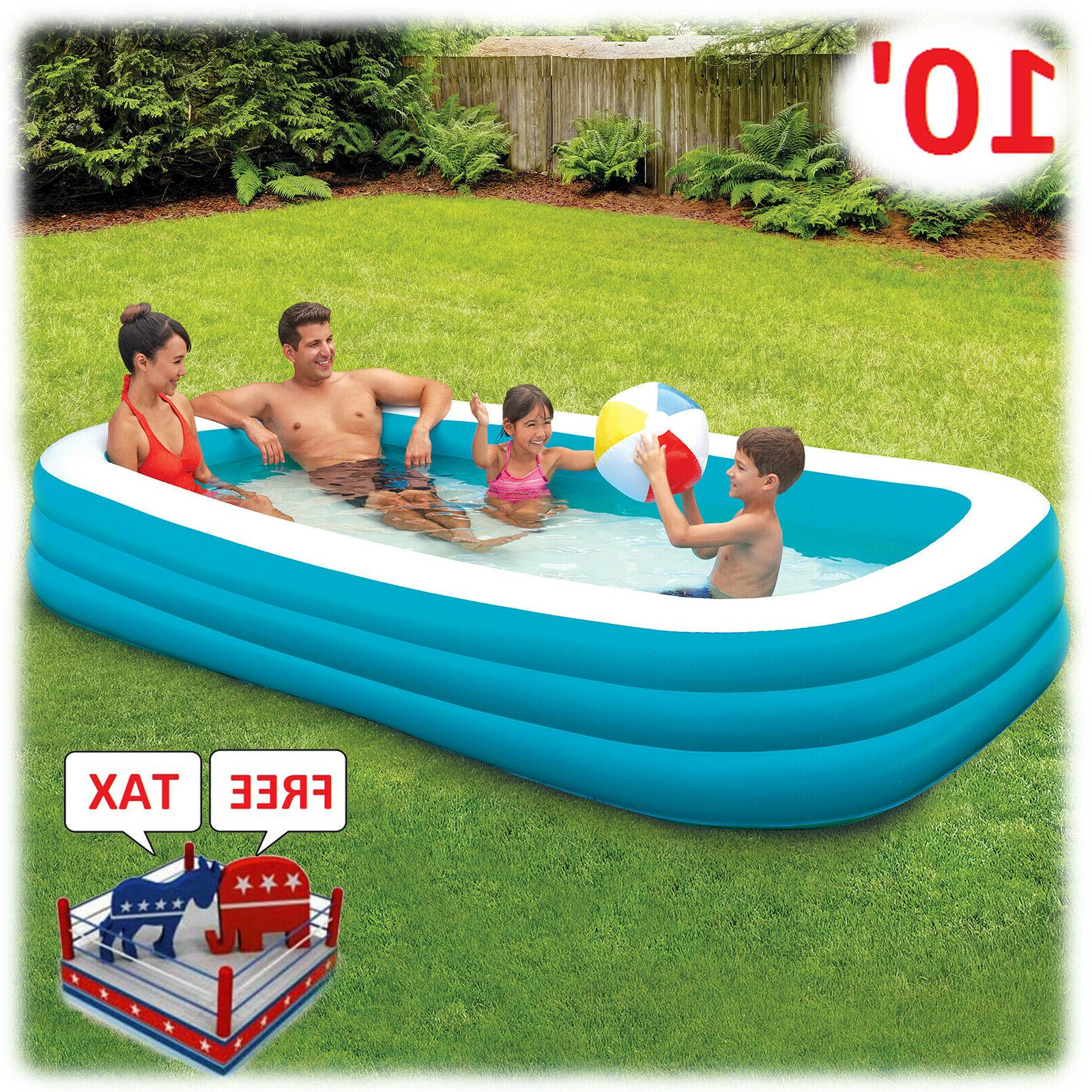 Inflatable Pool Lounger Kid Adult Family Ground Swim Backyar