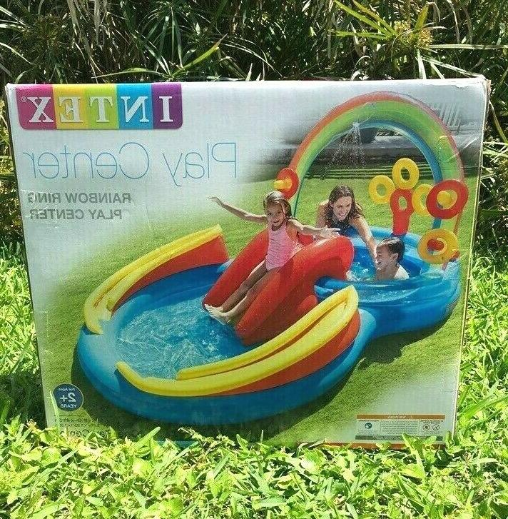 inflatable rainbow ring play center 117 x