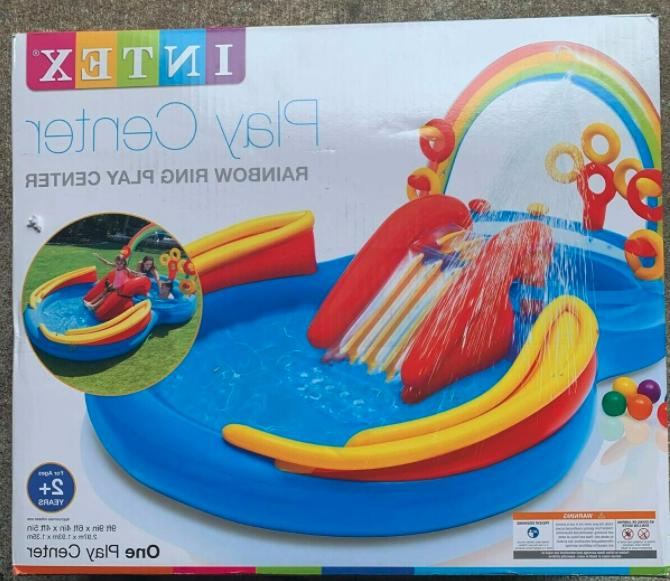 inflatable rainbow ring play center 117 x76