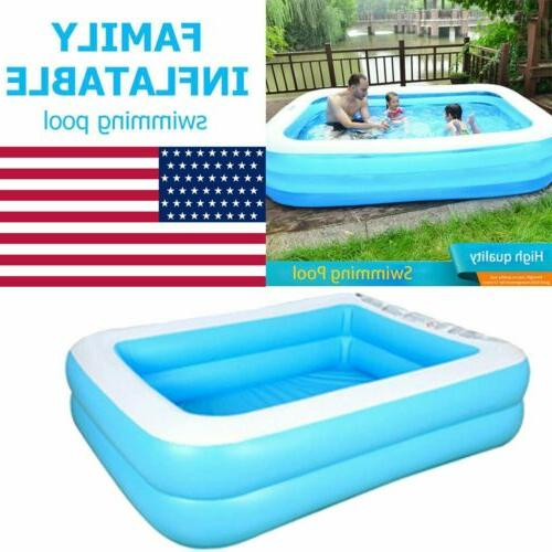Family Large Swimming Pool Garden Summer Kids Paddling
