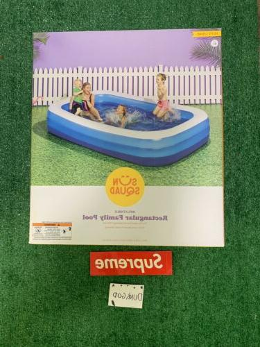 inflatable rectangular family pool 10 x 6