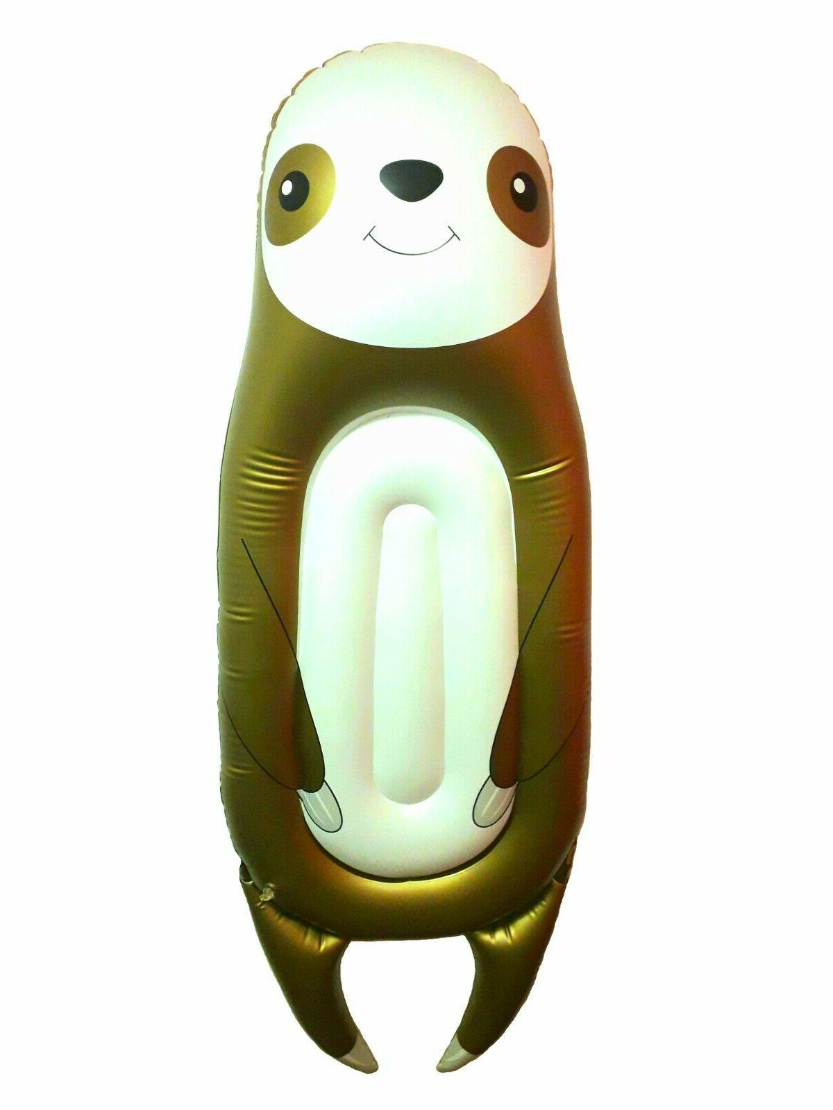 Inflatable sloth toy swimming for bear gift
