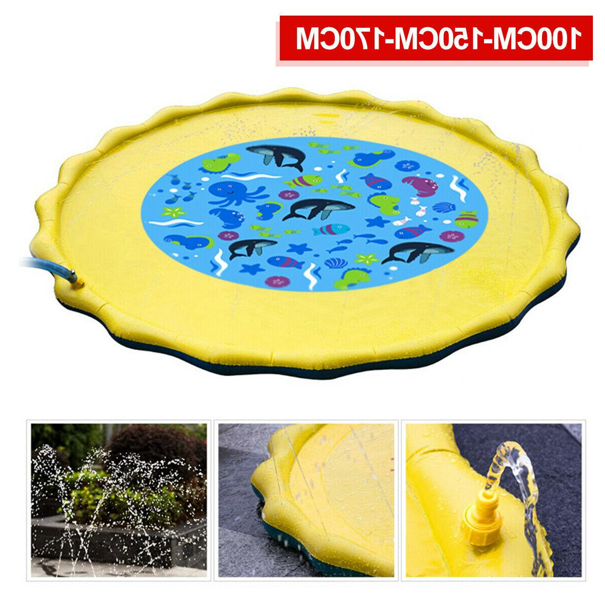 Inflatable Water Mat Kids Outdoor Pool Beach Lawn Toy