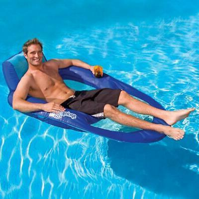 inflatable spring float recliner floating pool lounger