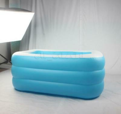 Inflatable Summer Pool Outdoor Family Inflatable w/ Filter Pump