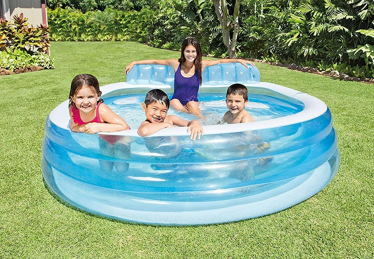 inflatable swim family lounge pool
