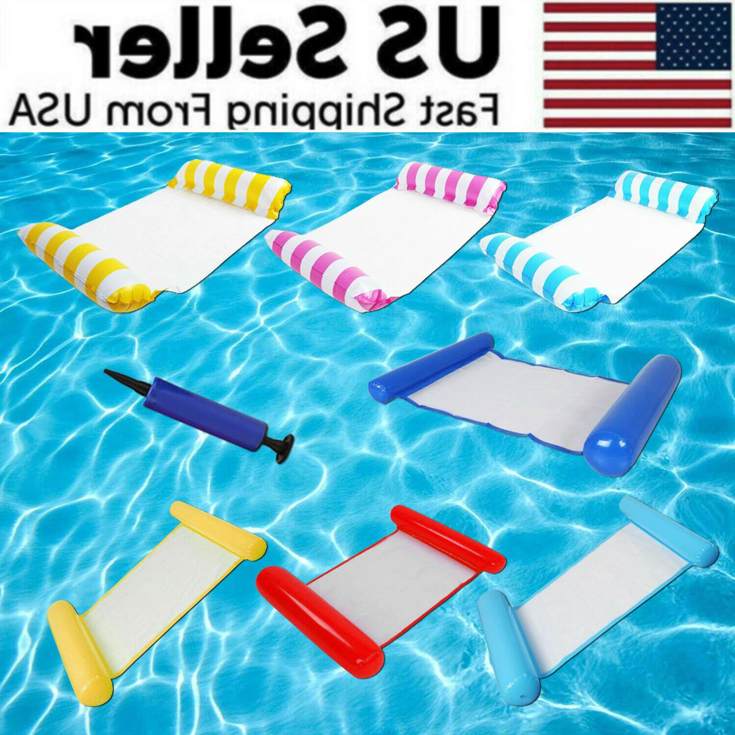 Inflatable Swimming Float Water Hammock Floating Pool Summer