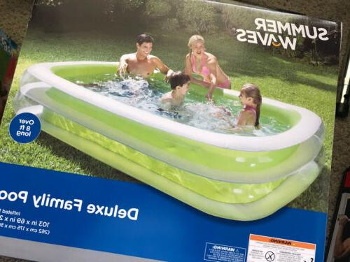 inflatable swimming pool 103x69x22 inches over 8ft