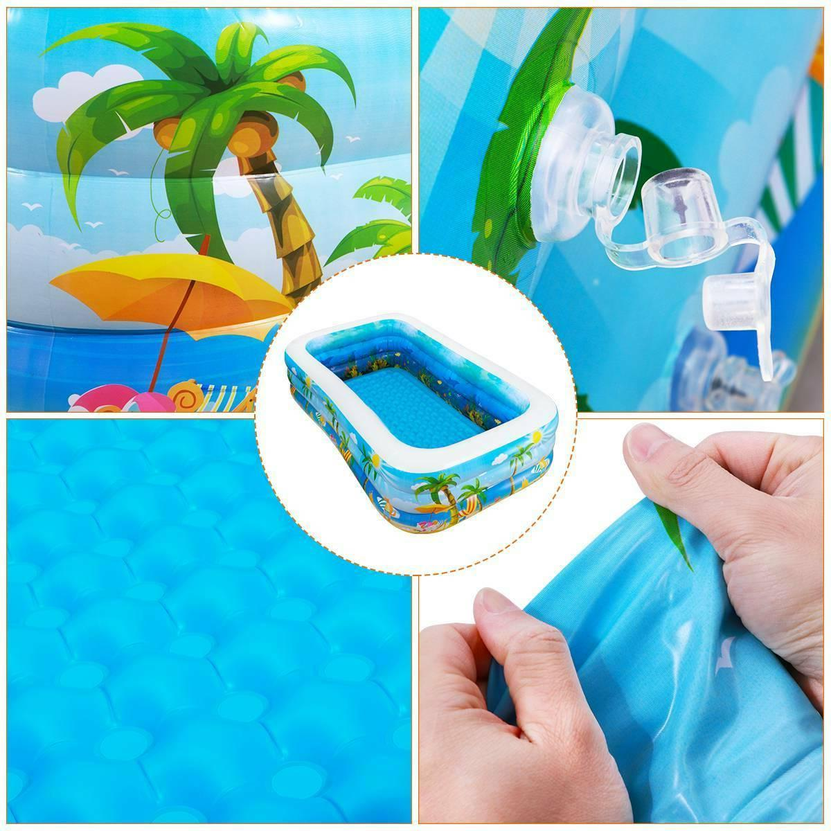 Inflatable Swimming Pool Big Kids Water Play Backyard
