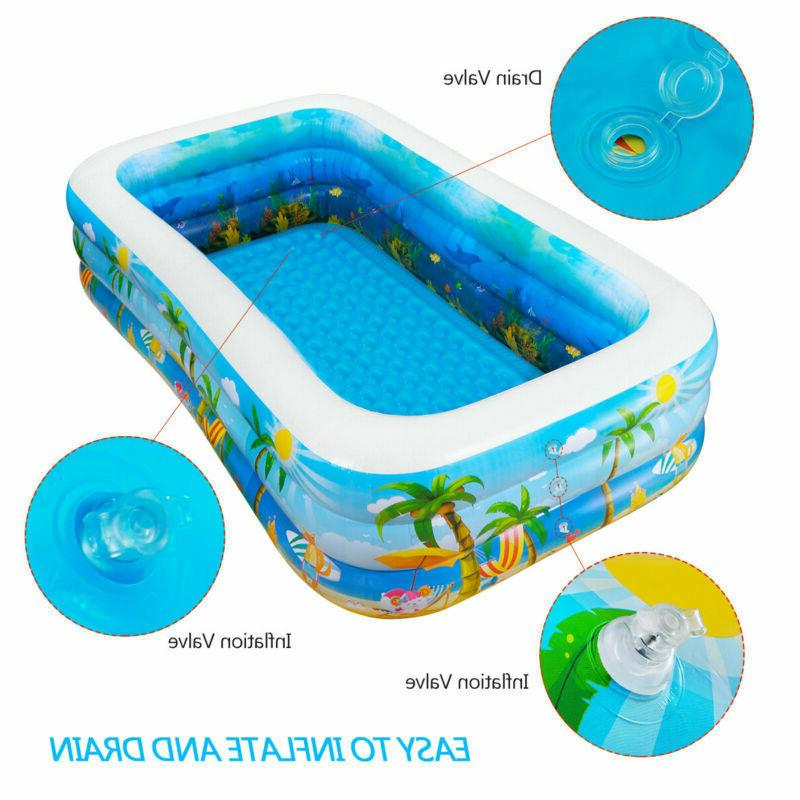 Inflatable Pool Center Big Kids Water Play Backyard