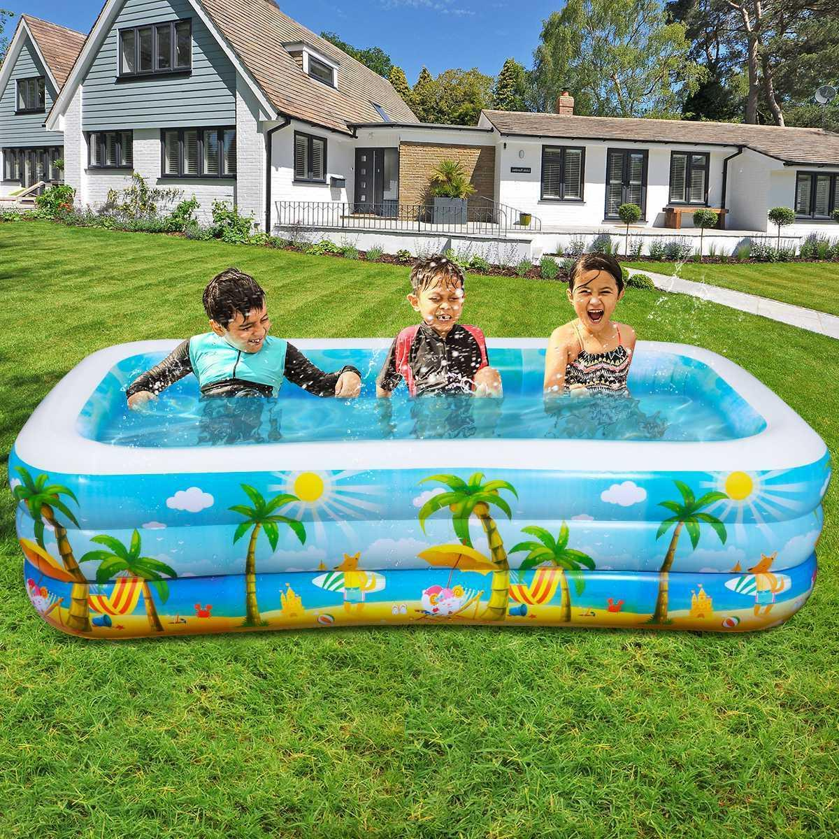 Inflatable Swimming Big Water Play Fun Backyard