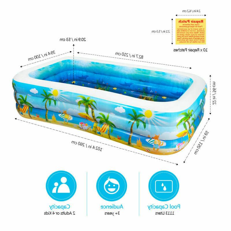 inflatable swimming pool center big family kids