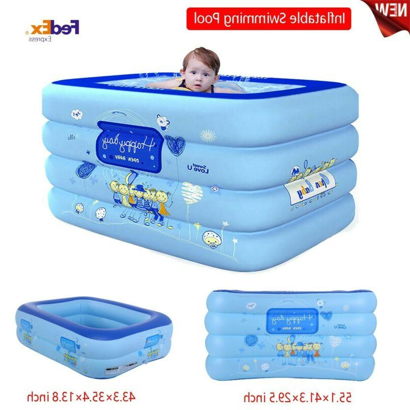 inflatable swimming pool center lounge family kid