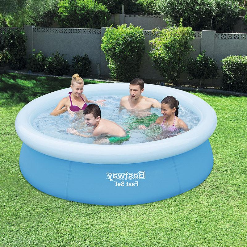 Inflatable Swimming Lounge Kids Water Play Fun Backyard