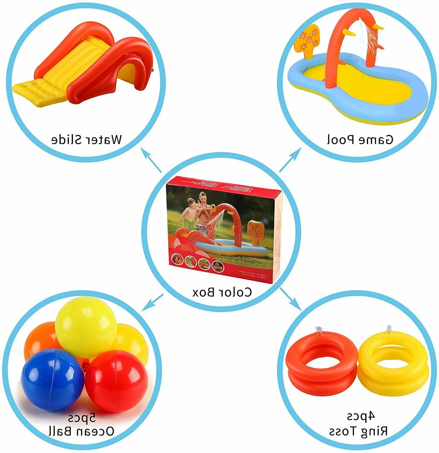 Inflatable for Pool, Sprinkler Water