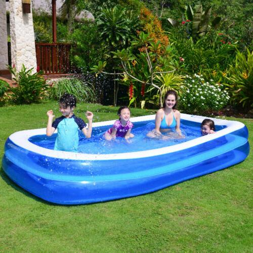 Inflatable Swimming Pool Family Pool Child Blue