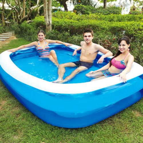 Inflatable Pool Outdoor Family Child Blue