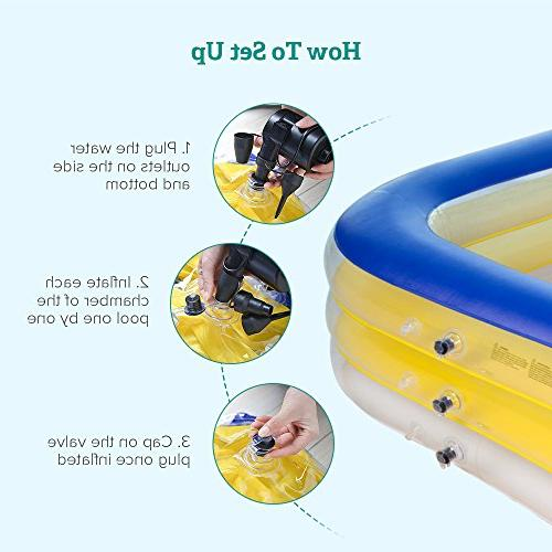 Sable Swimming Pool, Giant Family Swim Rectangular Pool for Ages