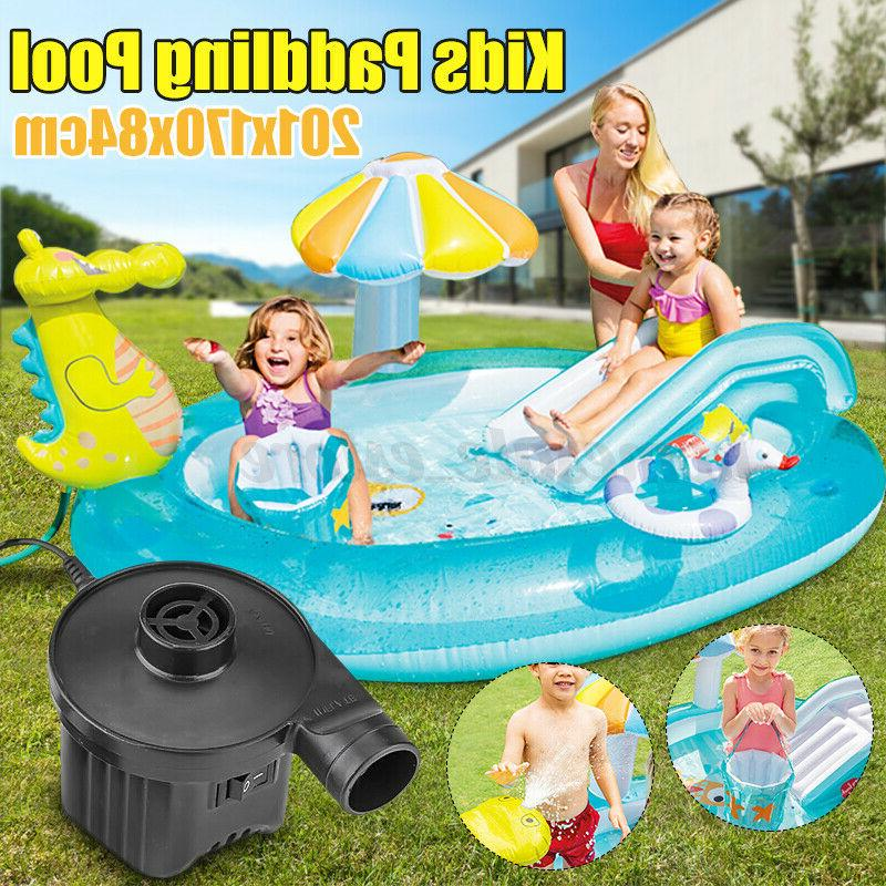 inflatable swimming pool water park slides