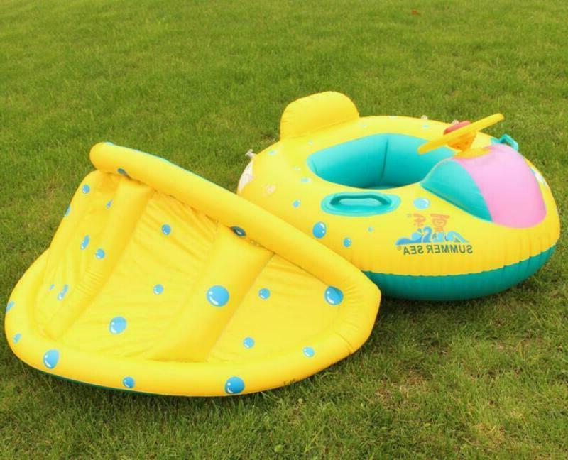 Blue Inflatable Ring Pool Seat