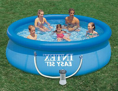 inflatable top ring pool with filter pump