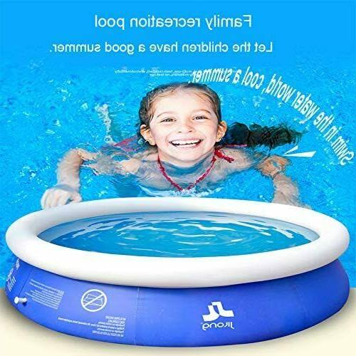 Inflatable Top Ring Round Pool Outdoor Lawn Ground