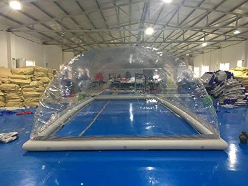 Inflatable Hot Swimming Pool Solar Cover Tent W/Blower &
