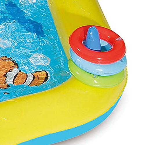 SUMMER WAVES Inflatable the Sea Pool Play Center w/Slide