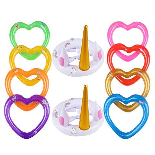 inflatable unicorn ring toss game