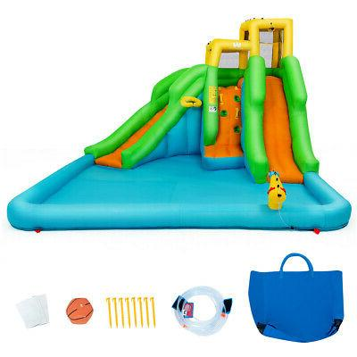 kids inflatable water park bounce house play
