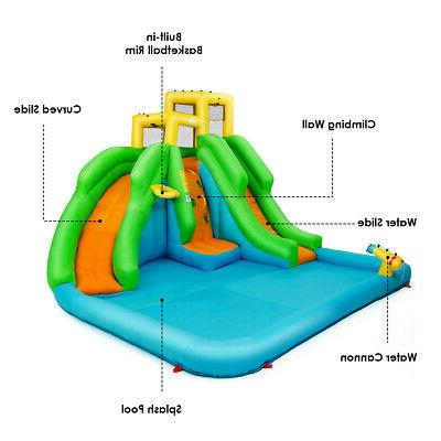 Kids Water Park Bounce Play Wall Slides