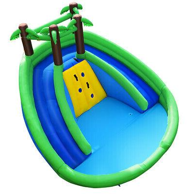 Inflatable Water Park Pool Climbing Wall